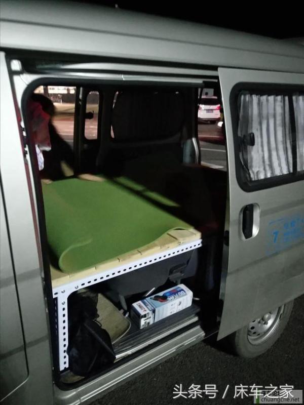无损改装五菱之光面包车改床车,拆卸方便灵活!图片